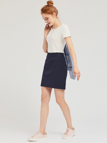 Короткая юбка на кокетке