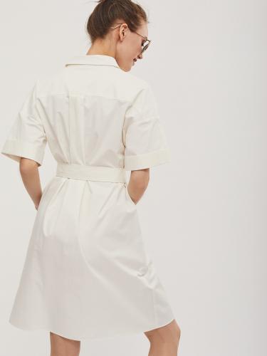 Платье рубашка с короткими рукавами