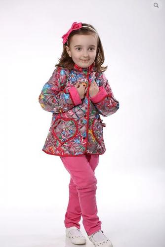 SALE   1750   Куртка детская для девочки М-377 серые узоры
