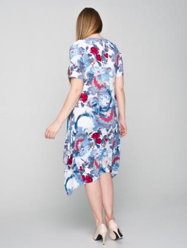 Платье 169/2, голубой/цветы