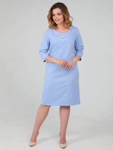 Платье 150, голубой меланж