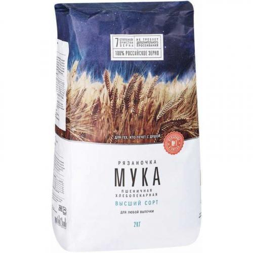 Мука пшеничная высший сорт, 2 кг