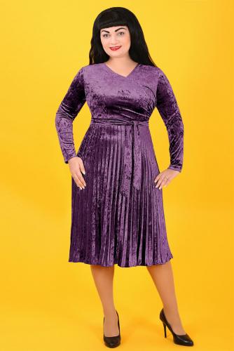 2Г 4693 Платье+пояс фиолетовый