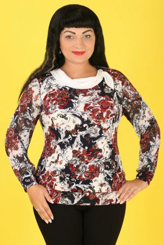 СИМАН 4550 Блуза+брошь