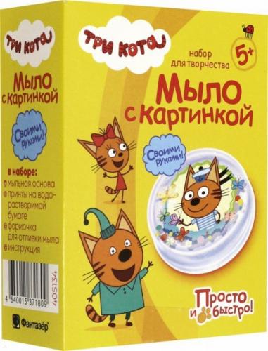 405134 Три кота Мыло с картинкой Коржик
