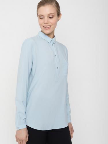 Блузка из поливискозы с фигурной кокеткой сзади