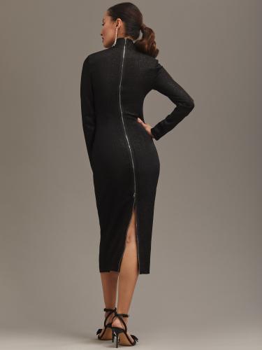 Трикотажное платье с мерцающим эффектом