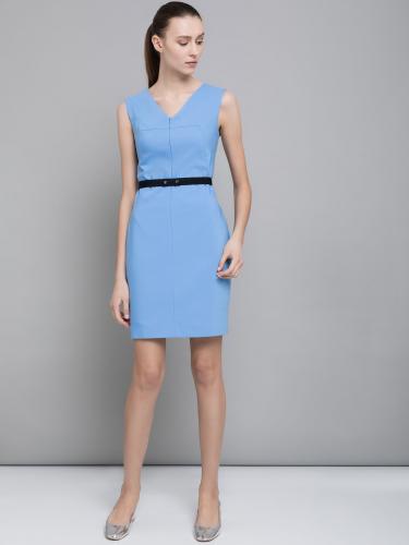 Платье-футляр с поясом