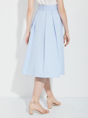 Расклешенная юбка из хлопка
