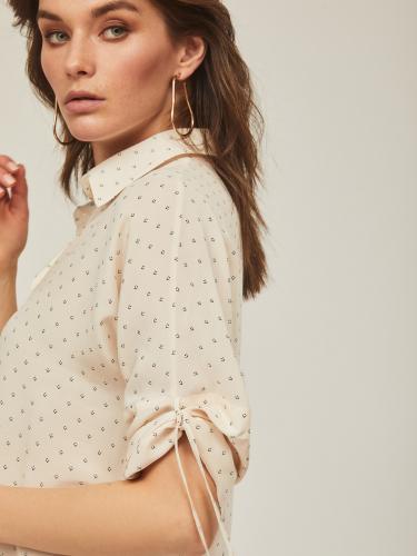 Блуза с драпировкой