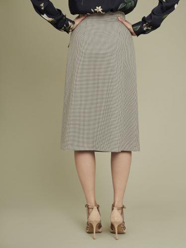 Двубортная юбка-миди