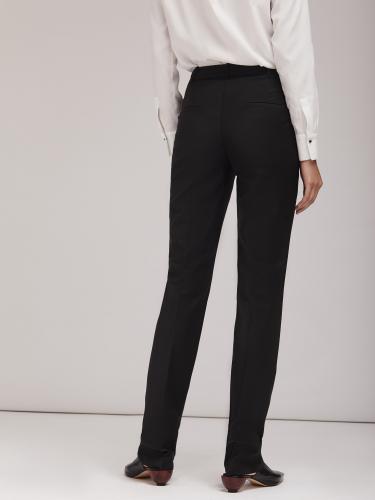 Прямые брюки из смесовой шерсти