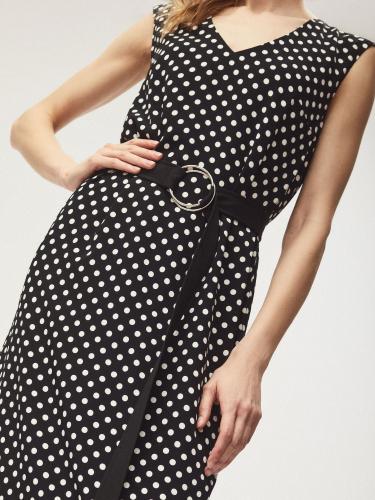 Платье макси с поясом