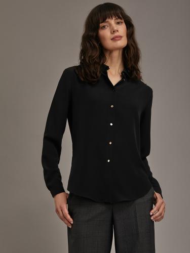 Блуза с фигурным воротником