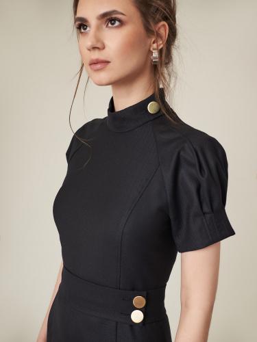 Платье со съемным поясом