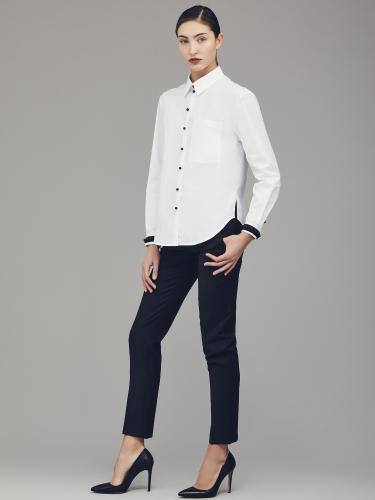 Хлопковая рубашка с бусинами