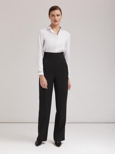 Прямые брюки с завышенной талией