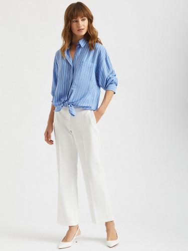 Укороченные брюки на талии