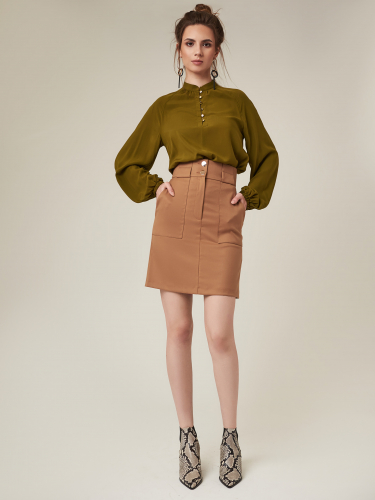 Короткая юбка в стиле сафари