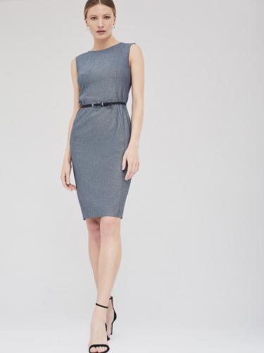 Платье-футляр с тонким ремешком