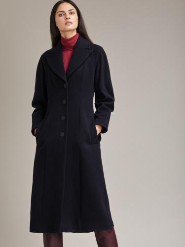 Пальто приталенного силуэта из шерстяной ткани