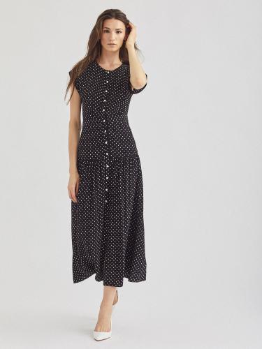 Платье с широким воланом