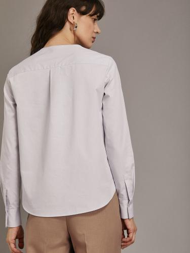 Прямая блуза из хлопка