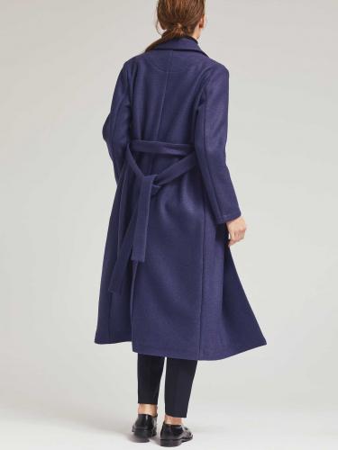 Пальто из шерсти с поясом