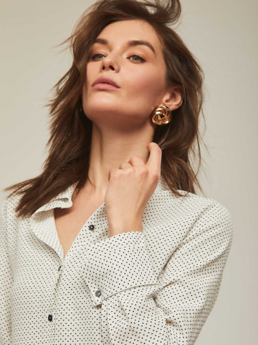 Блуза ассиметричного кроя с принтом