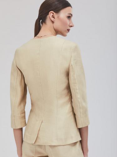 Жакет из льняной ткани с блеском