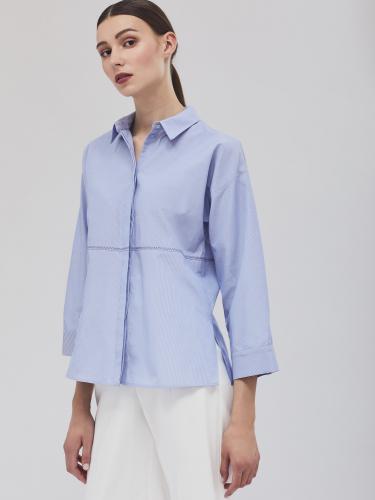 Рубашка с декоративной строчкой