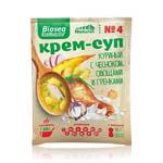 49р  120рКрем-суп № 4 Куриный с чесноком, овощами и гренками BIOSEA EcoNutritif