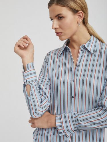 Рубашка в полоску с двойными манжетами