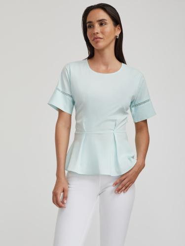 Блуза из хлопка с перфорацией