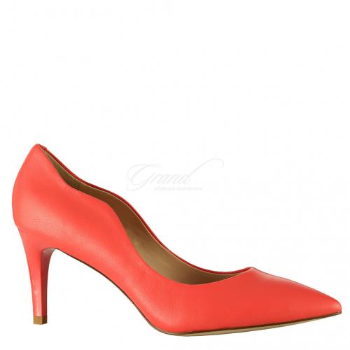 Туфли коралловая кожа