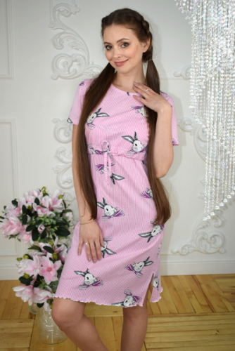 Домашнее платье для кормления Зайцы Код товара: 1924