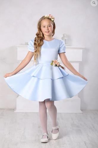 платье для девочки А16-2 Вальс голубой