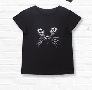 Джемпер для девочек Кошка, черный