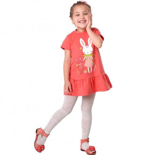 Платье для девочек Беата, пепел.роза, бирюза