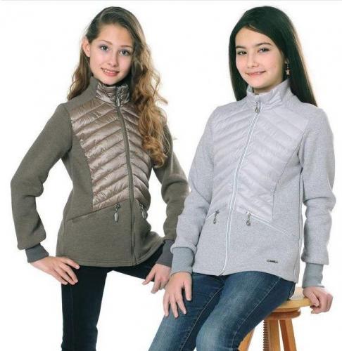 Куртка для девочек Виола, фламинго, кориандр