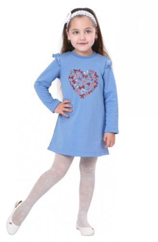 Платье для девочек Мери, голубой