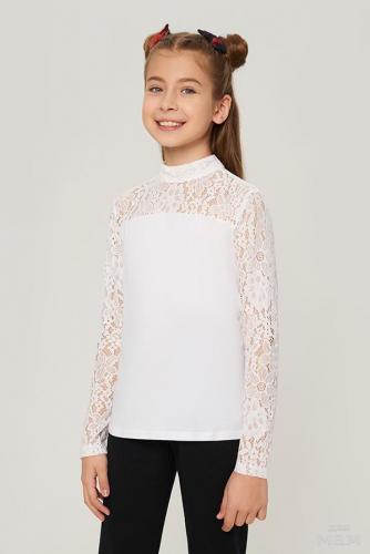 600 руб + 18% Блузка детская для девочек Hewland белый