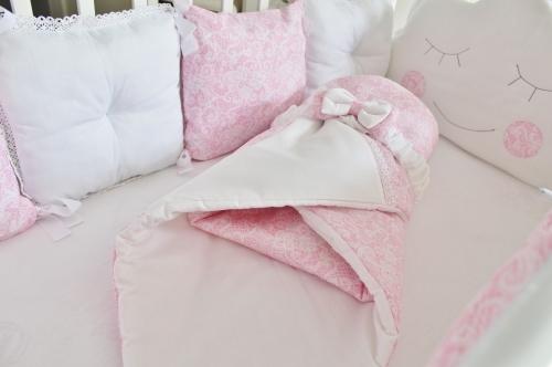 Комплект в кроватку Сказочные сны в розовом цвете арт. 1026
