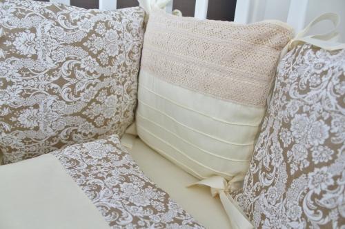 Комплект в кроватку Арабика в бежевом цвете арт 1027