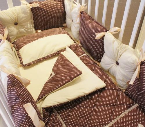 Комплект в кроватку Горошинка Шампань арт 1110