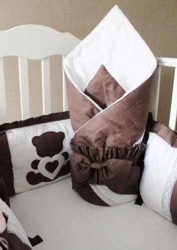 Новинка! Комплект в кроватку «Шоколад» арт. 1033