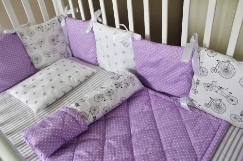 Комплект Лавандовое настроение  на 4 стороны кроватки арт 1003-12