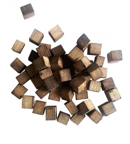 Дубовые кубики, сильный обжиг