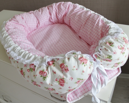 Babynest, гнездышко, кокон для младенца - розы арт 5009