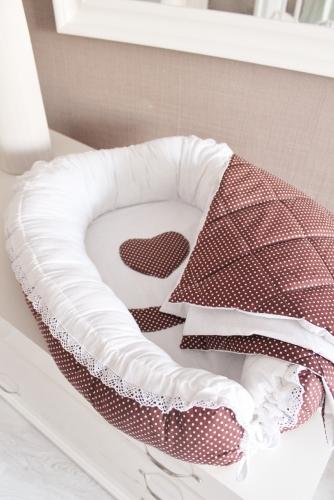 Комплект Babynest + одеяло Горошинка арт 5022